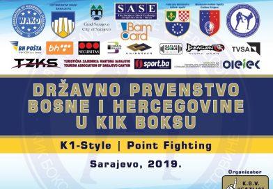 Prvenstvo Bosne i Hercegovine u kik boksu – Sarajevo 2019.
