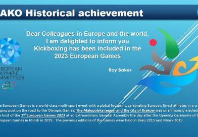 WAKO Kickboxing na 3. Evropskim igrama 2023.